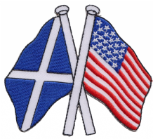 Scotland & United States of America USA Friendship Embroidered Patch A180